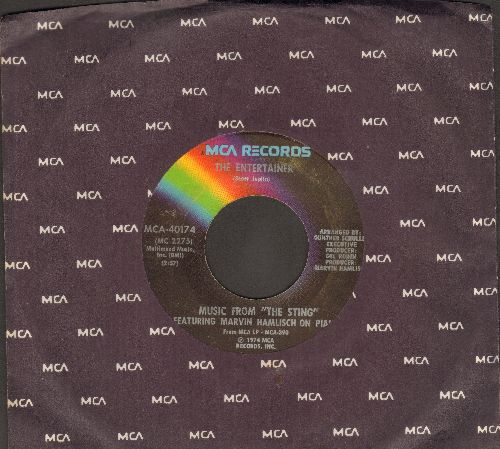 Hamlisch, Marvin - The Entertainer/Solace (From film -The Sting-) (with MCA company sleeve) - EX8/ - 45 rpm Records