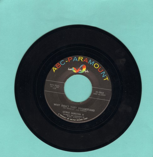 Hamilton, George IV - Even Tho'/Why Don't They Understand  - EX8/ - 45 rpm Records