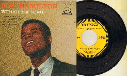 Hamilton, Roy - Without A Song/A Little Voice/Cuban Love Song/My Own Beloved (vinyl EP record with picture cover) - NM9/EX8 - 45 rpm Records