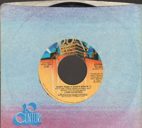 Haywood, Leon - Don't Push It Don't Force It (long and short version, with 20th Century Fox company sleeve) - EX8/ - 45 rpm Records