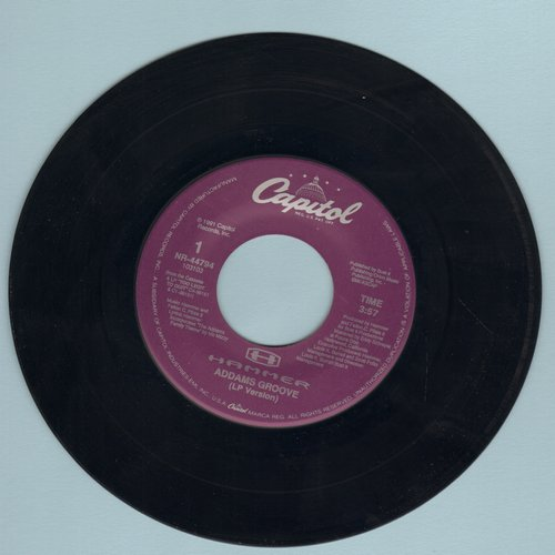 Hammer - Addams Groove (LP version + Instrumental) - NM9/ - 45 rpm Records