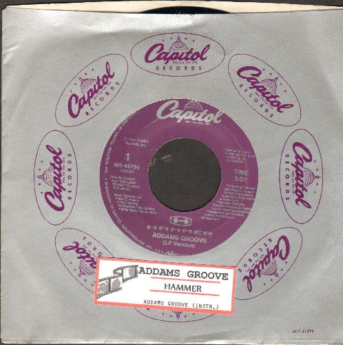 Hammer - Addams Groove (LP version + Instrumental)(with juke box label and Capitol company sleeve) - M10/ - 45 rpm Records