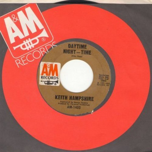 Hampshire, Keith - Daytime Night-Time/Turned The Other Way (with A&M company sleeve) - EX8/ - 45 rpm Records