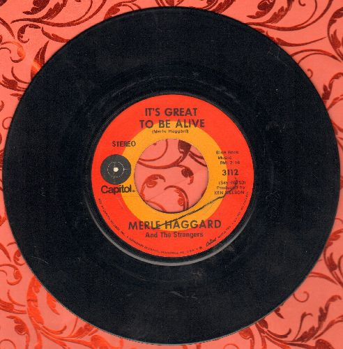 Haggard, Merle - It's Great To Be Alive/Someday We'll Look Back - EX8/ - 45 rpm Records