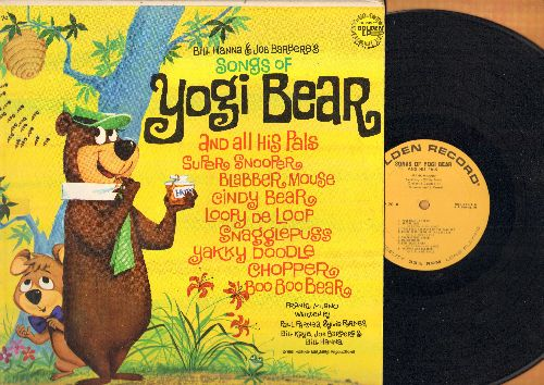 Hanna & Barbera - Songs Of Yogi Bear And His Pals Super Snooper, Blabber Mouse, Cindy Bear, Loopy De Loop, Snagglepuss, Yakky Doodle, Chopper and Boo Boo Bear (vinyl LP record) - EX8/VG7 - LP Records
