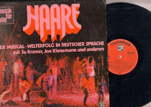 Haare (Hair) - Haare (Hair) - The GERMAN version of the legendary Musical. Cast includes Su Kramerand Joe Kienemann (vinyl STEREO LP record, German Pressing, sung in German) - EX8/VG7 - LP Records