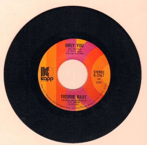 Hart, Freddie - Only You (And You Alone)/Funny, Familiar, Forgotten Feelings - EX8/ - 45 rpm Records