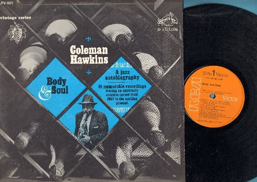Hawkins, Coleman - Body & Soul: St. Louis Shuffle, Sugar Foot Stomp, Dinah, The Sheik Of Araby, Say It Isn't So (vinyl LP record, re-issue of vintage Jazz recordings) - EX8/VG7 - LP Records