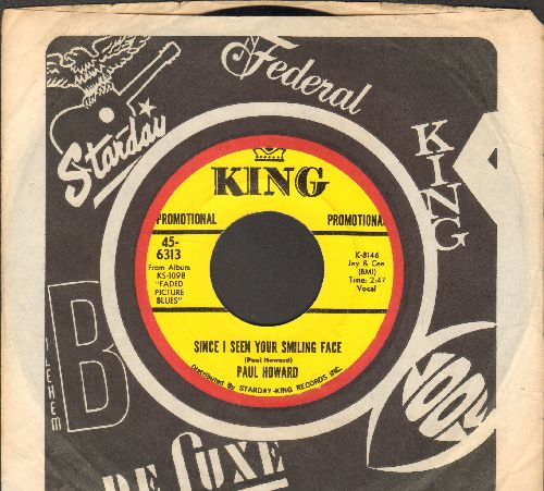 Howard, Paul - Since I Seen Your Face/Your Picture Done Faded (RARE Country-Blues 2-sider, DJ advance pressing with King company sleve) - NM9/ - 45 rpm Records