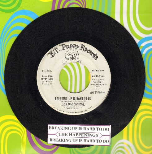 Happenings - Breaking Up Is Hard To Do (double-A-sided DJ advance pressing with juke box label) - NM9/ - 45 rpm Records