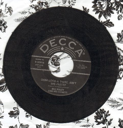 Haley, Bill & His Comets - Ooh! Look-A There, Ain't She Pretty/Joey's Song (silver lines/star label) - VG7/ - 45 rpm Records