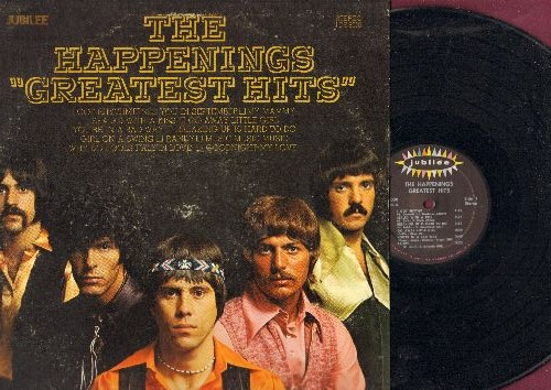 Happenings - Greatest Hits: I Got Rhythm, See Yo In September, Why Do Fools Fall In Love, Go Away Little Girl, Goodnight My Love (vinyl STEREO LP record) - NM9/EX8 - LP Records