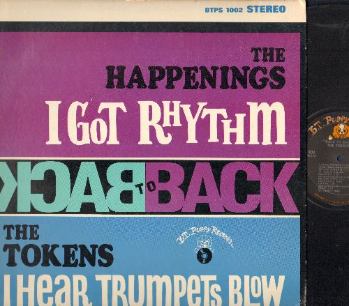 Tokens & Happenings - Back To Back: I Got Rhythm, I Hear Trumpets Blow, Good Night My Love, Saloogy, He Thinks He's A Hero (vinyl STEREO LP record) - VG7/VG6 - LP Records