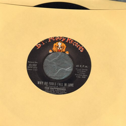 Happenings - Why Do Fools Fall In Love/When The Summer Is Through  - EX8/ - 45 rpm Records