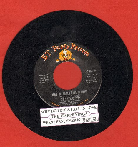 Happenings - Why Do Fools Fall In Love/When The Summer Is Through (with juke box label) - EX8/ - 45 rpm Records