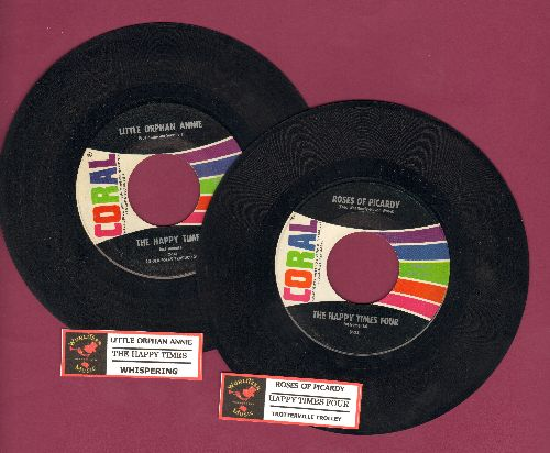 Happy Times - 2 for 1 Special: Little Orphan Annie/Roses Of Picardy (2 vintage first issue 45rpm records with juke box label for the price of 1, Shipped in plain white paper sleeves) - EX8/ - 45 rpm Records