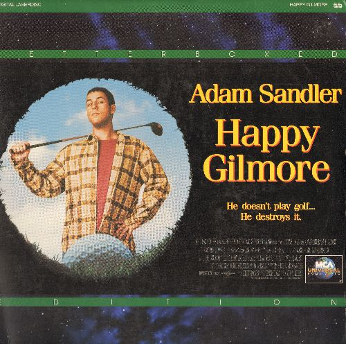 Happy Gilmore - Happy Gilmore - LASER DISC Letterbox Version of Adam Sandler Cult Comedy, featuring hilarious Cameo by Bob Barker! - NM9/EX8 - Laser Discs
