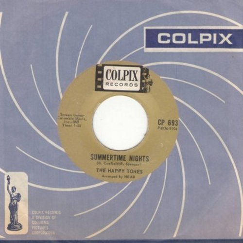 Happy Tones - Summertime Nights/Papa Shame (with Colpix company sleeve) - EX8/ - 45 rpm Records