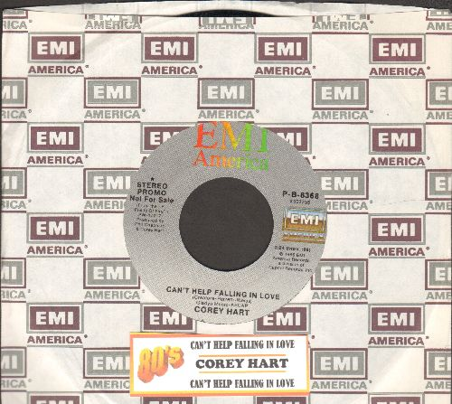 Hart, Corey - Can't Help Falling In Love (NICE updated version of Elvis Presley Hit!, double-A-sided DJ advance pressing with juke box label and  EMI company sleeve) - NM9/ - 45 rpm Records