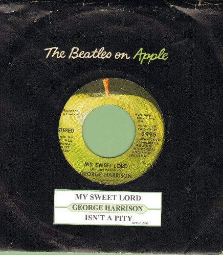 Harrison, George - My Sweet Lord/Isn't It A Pity (with juke box label and Apple company sleeve) - M10/ - 45 rpm Records