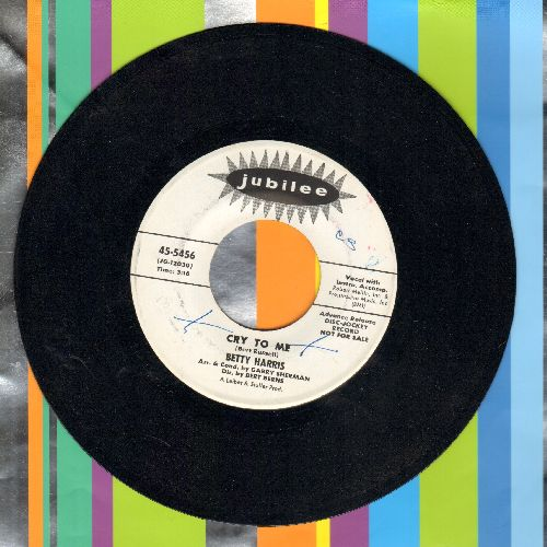 Harris, Betty - Cry To Me/I'll Be A Liar (DJ advance pressing) - EX8/ - 45 rpm Records