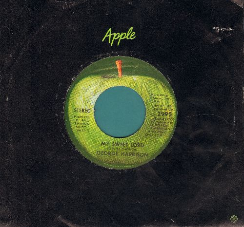 Harrison, George - My Sweet Lord/Isn't It A Pity (Apple company sleeve) - NM9/ - 45 rpm Records