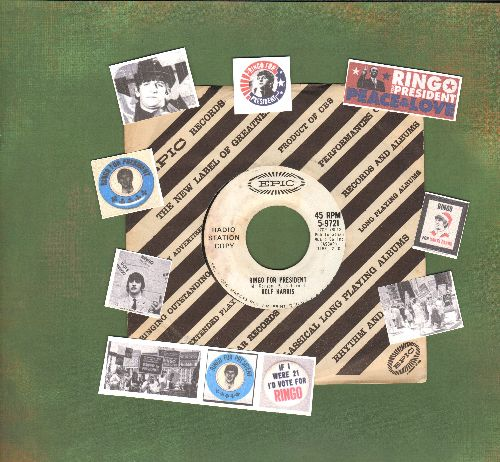 Harris, Rolf - Ringo For President/Click Go The Shears (RARE Beatles Novelty 2-sider, DJ advance pressing with vintage Epic company sleeve) - NM9/ - 45 rpm Records