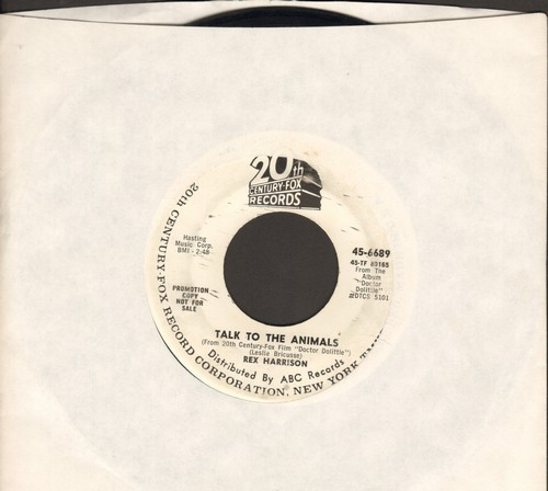 Harrisson, Rex - Talk To The Anmals/When I Look In Your Eyes (DJ advance pressing) - VG6/ - 45 rpm Records