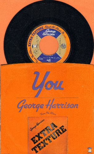 Harrison, George - You/World Of Stone (with picture sleeve) - EX8/EX8/ - 45 rpm Records