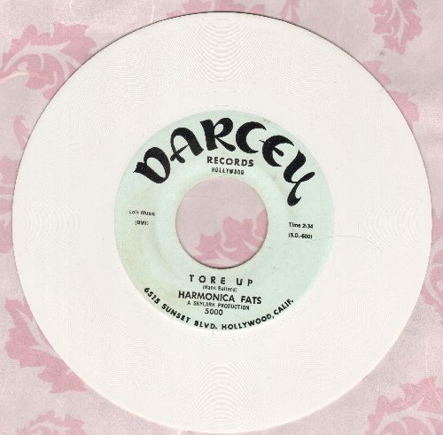 Harmonica Fats - Tore Up/I get So Tired (LIMITED EDITION White Vinyl re-issue) - M10/ - 45 rpm Records