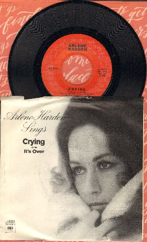 Harden, Arlene - Crying/It's Over (with picture sleeve) - NM9/EX8 - 45 rpm Records
