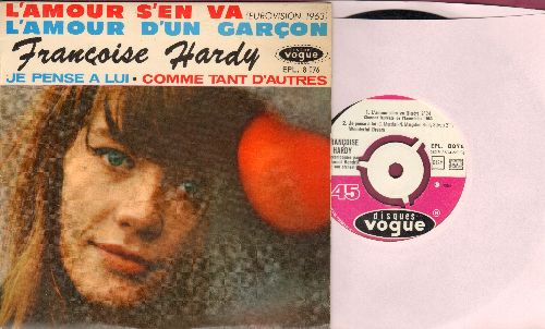 Hardy, Francoise - Je Pense A Lui (Wonderful Dream)/L'amour S'en Va/L'amour D'un Garcon (vinyl EP record with picture cover, French Pressing, sung in French) - NM9/EX8 - 45 rpm Records