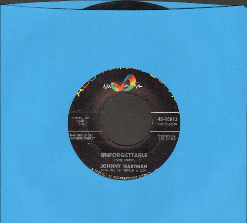 Hartman, Johnny - Unforgettable/The very Thought Of You - VG7/ - 45 rpm Records