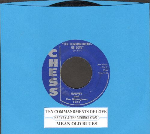 Harvey & The Moonglows - Ten Commandments Of Love/Mean Old Blues - EX8/ - 45 rpm Records