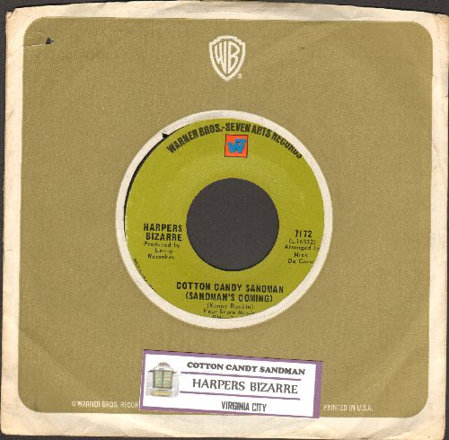 Harpers Bizarre - Cotton Candy Sandman/Virginia City (with juke box label and Warner Brothers company sleeve) - NM9/ - 45 rpm Records