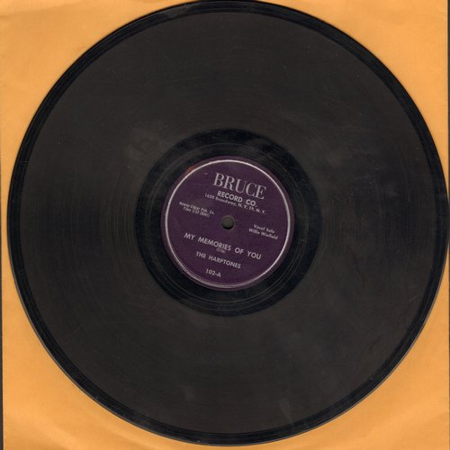 Harptones - My Memories Of You/Just For Laughs (RARE 10 inch 78rpm record) - EX8/ - 78 rpm