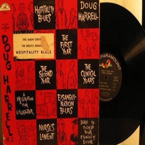 Harrell, Doug - Hospitality Blues - A Prescription For Laughter - RARE complete album featuring  the Title Novelty Hit! (Vinyl MONO LP record) - NM9/VG7 - LP Records