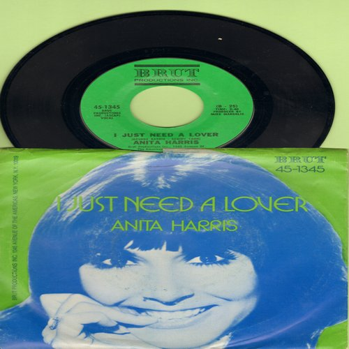 Harris, Anita - I Just Need A Lover/Music (with picture sleeve) - NM9/EX8 - 45 rpm Records