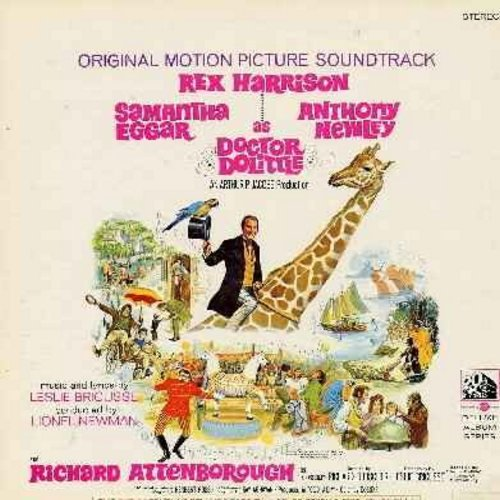 Harrison, Rex - Dr. Dolittle: Original Motion Picture Soundtrack - Vinyl  LP record featuring all songs from the beloved film-classic. Includes Oscar Winning Song -Talk To Th Animals-. - EX8/VG6 - LP Records