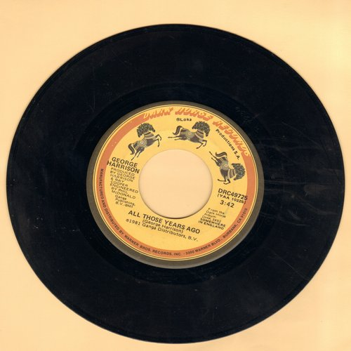 Harrison, George - All Those Years Ago/Writing's On The Wall (with juke box label) - NM9/ - 45 rpm Records