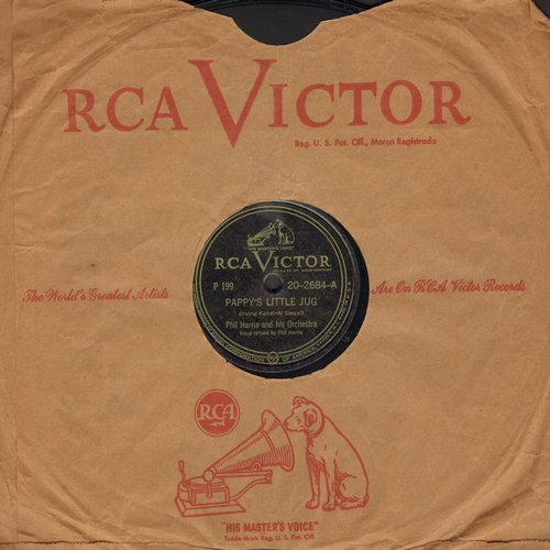 Harris, Phil - Pappy's Little Jug/Minnie The Mermaid (10 inch 78rpm record with RCA company sleeve) - VG7/ - 78 rpm