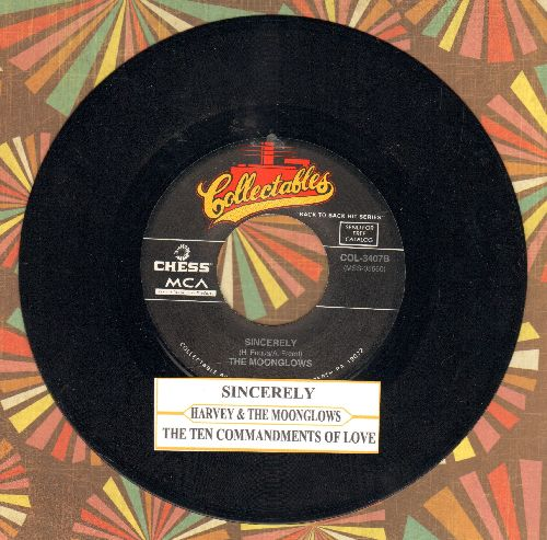 Harvey & The Moonglows - Sincerely/Ten Commandments Of Love (double-hit re-issue with juke box label) - NM9/ - 45 rpm Records