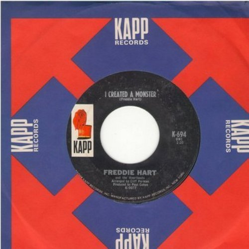 Hart, Freddie - I Created A Monster/Hank Williams' Guitar (with Kapp company sleeve) - NM9/ - 45 rpm Records
