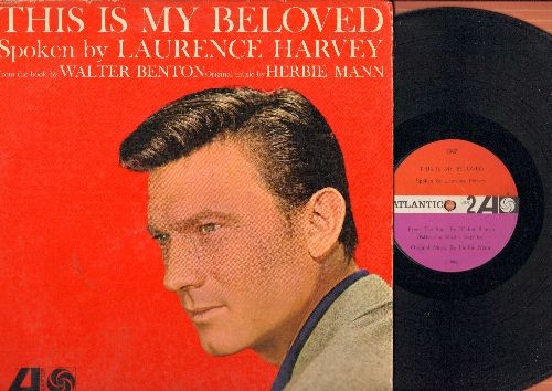 Harvey, Laurence - This Is My Beloved - Spoken by Laurence Harvey, from the book by Walter Benton, original music by Herbie Mann (Vinyl MONO LP record) - EX8/VG6 - LP Records