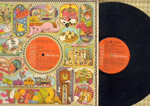 Hastings, Bob - 45 Songs Children Love To Sing/Over 40 Of The World's Greatest Children's Songs (2 vinyl STEREO LP record set, 1976 issue of vintage recordings) - NM9/NM9 - LP Records
