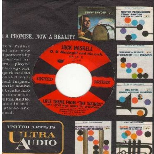 Haskell, Jack - Love Theme From The Vikings/A Place I Know (with United Artists company sleeve) - EX8/ - 45 rpm Records