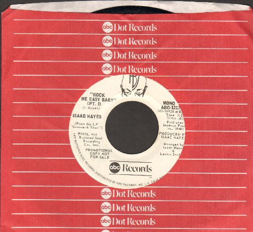 Hayes, Isaac - Rock Me Easy Baby (Parts 1) (double-A-sided DJ advance pressing with ABC company sleeve) - NM9/ - 45 rpm Records