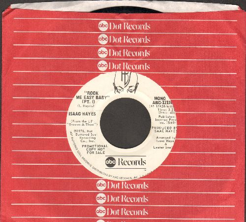 Hayes, Isaac - Rock Me Easy Baby (Pt. 1) (double-A-sided DJ advance pressing with ABC company sleeve) - NM9/ - 45 rpm Records