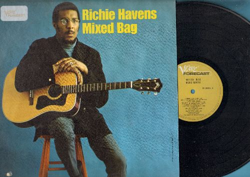 Havens, Richie - Mixed Bag: Eleanor Rigby, High Flyin' Bird, Three Way Eternity, Handsome Johnny, Just Like A Woman (vinyl LP record, bb lower left cover) - NM9/EX8 - LP Records