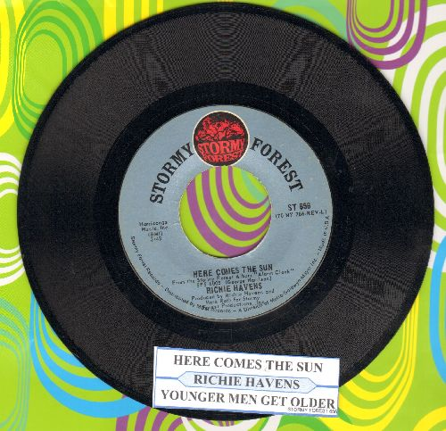 Havens, Richie - Here Comes The Sun/Younger Men Get Older (with juke box label) - NM9/ - 45 rpm Records